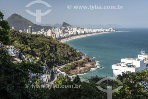 Vista do mar e da Praia de Ipanema à partir do Morro Dois Irmãos - Rio de Janeiro - Rio de Janeiro (RJ) - Brasil