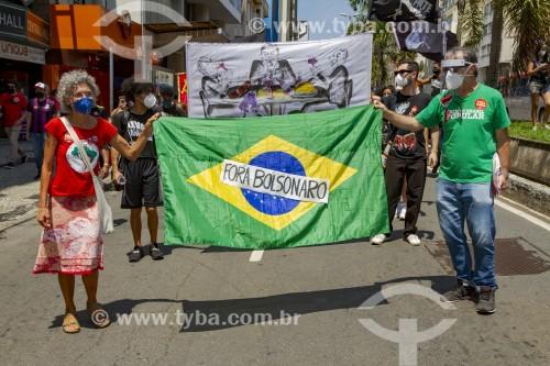 Manifestação em oposição ao governo do presidente Jair Messias Bolsonaro - Juiz de Fora - Minas Gerais (MG) - Brasil