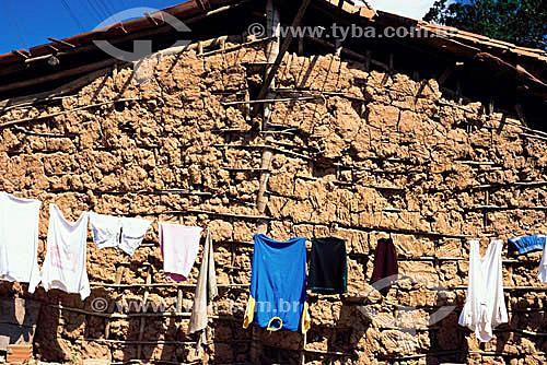 Habitação sertaneja - casa de pau-a-pique - Sergipe - Brasil / Data: 2008
