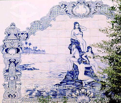 Painel de azulejos - Volta Redonda - RJ - Brasil  - Volta Redonda - Rio de Janeiro - Brasil