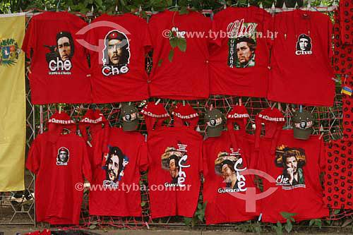 Camisas com a foto de Che Guevara - Caracas - Venezuela - Janeiro 2006