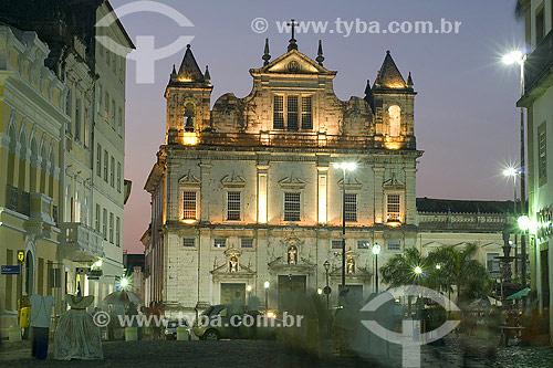 Catedral Basílica na Praça Terreiro de Jesus - Centro Histórico de Salvador - BA - Brasil  - Salvador - Bahia - Brasil