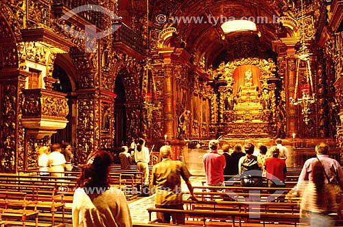Mosteiro e Igreja de São Bento - Visão interna - Rio de Janeiro - RJ - Brasil  O mosteiro é Patrimônio Histórico Nacional desde 15-07-1938.   - Rio de Janeiro - Rio de Janeiro - Brasil
