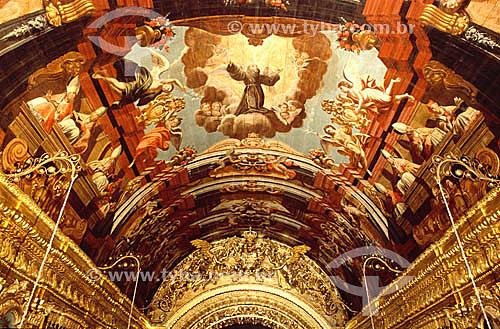 Painel pintado no teto da Igreja da Penitência - Vista interna - Rio de Janeiro - RJ - Brasil  - Rio de Janeiro - Rio de Janeiro - Brasil