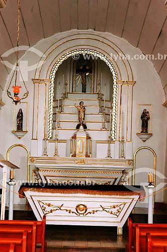 Interior da Capela de São João Batista - Altar - Barra de São João - RJ - Brasil obs.: foto digital   - Rio de Janeiro - Rio de Janeiro - Brasil
