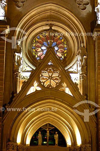Detalhe interno da Catedral de Petrópolis - RJ - Brasil                      - Petrópolis - Rio de Janeiro - Brasil