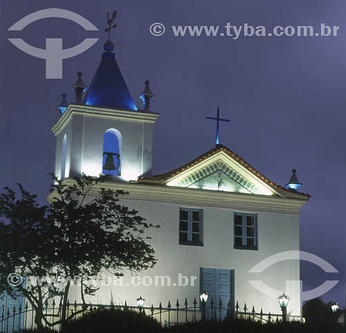 Igreja Nossa Senhora dos Remédios à noite - Arraial do Cabo - RJ - Brasil  - Cabo Frio - Rio de Janeiro - Brasil