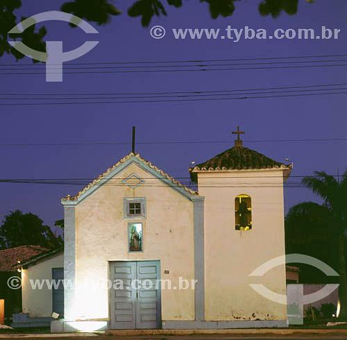 Capela Nossa Senhora da Conceição `a noite - Iguaba Grande - RJ - Brasil  - Iguaba Grande - Rio de Janeiro - Brasil