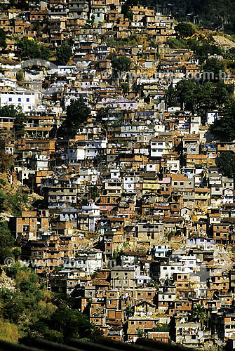 Morro dos Prazeres - favela em Santa Teresa - Rio de janeiro - RJ - Brasil / Data: 2005