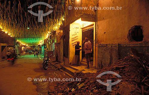 Buraco Quente, localidade dentro do Morro ou  favela da Mangueira - Rio de Janeiro - RJ - Brasil  - Rio de Janeiro - Rio de Janeiro - Brasil