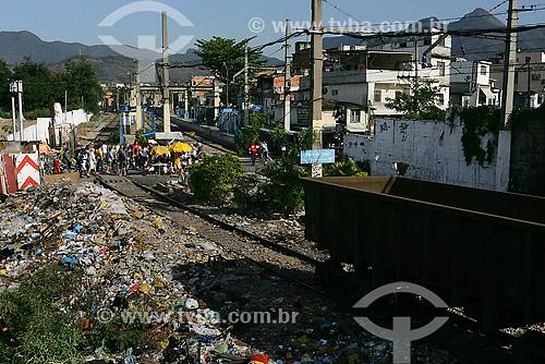 MRS Logística (Empresa de Trem) - estação no Jacarezinho  - Rio de Janeiro - Rio de Janeiro - Brasil
