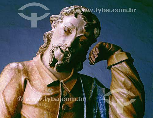 Judas Iscariotes - Passo da Ceia - Esculturas de Aleijadinho  - Congonhas - Minas Gerais (MG) - Brasil