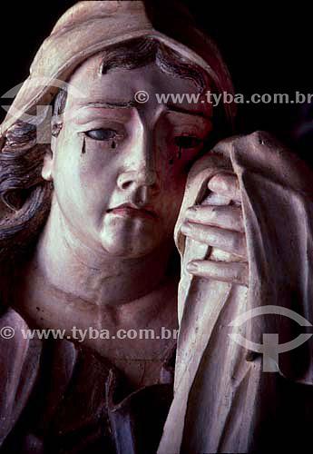 Filha de Jerusalém - Passo da Cruz-às-costas - detalhe - Esculturas de Aleijadinho  - Congonhas - Minas Gerais