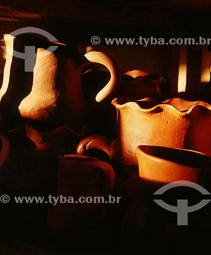 Detalhes de Artesanato em barro - GO - Brasil  - Goiás - Brasil