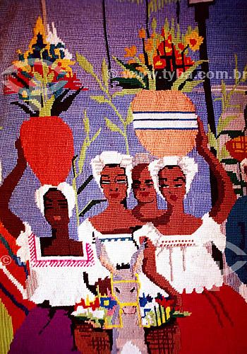 Artesanato - tapeçaria -  baianas  - Bahia - Brasil