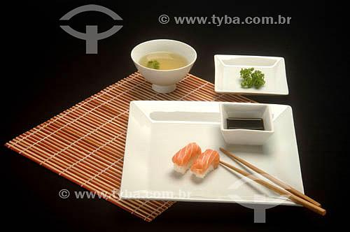 Culinária japonesa - sushi  - Brasil