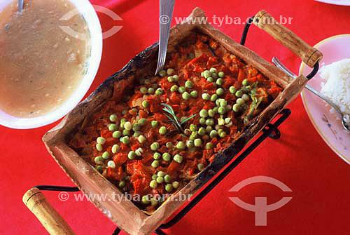 Culinária do sul do Brasil - Pintado na Telha - Guaíra - Paraná - Brasil - Abril 2004  - Guaíra - Paraná - Brasil