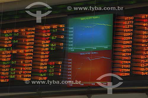 Painel eletrônico da BOVESPA (Bolsa de Valores de São Paulo)- São Paulo - SP - Brasil - Novembro de 2006  - São Paulo - São Paulo - Brasil