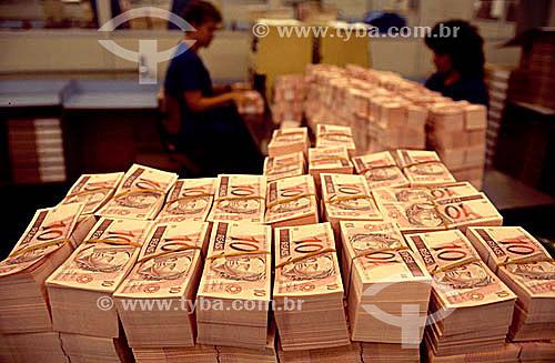 Casa da Moeda -Dinheiro - Cédulas de Real (dez reais - R$ 10)  - Brasil