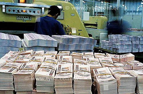 Impressão de notas de Real na Casa da Moeda -  Zona Oeste do Rio de Janeiro - RJ - Brasil / Data: 2006