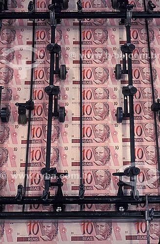 Impressão de notas de Real na Casa da Moeda -  Zona Oeste do Rio de Janeiro - RJ - Brasil  - Rio de Janeiro - Rio de Janeiro - Brasil