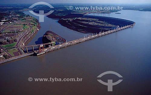 Industrial - Vista aérea - Hidroelétrica de Itaipú - PR - Brasil  - Paraná - Brasil