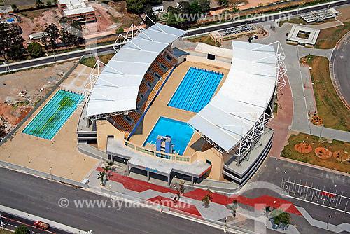 Vista aérea do Parque Aquático Maria Lenk - Complexo do Autódromo - Jacarepagua - Rio de Janeiro - RJ - Brasil - Setembro de 2007  - Rio de Janeiro - Rio de Janeiro - Brasil