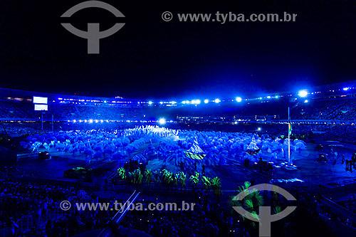 Cerimônia de abertura dos Jogos Pan-americanos Rio 2007 - Estádio Mário Filho - Rio de Janeiro - RJ - Brasil  - Rio de Janeiro - Rio de Janeiro - Brasil