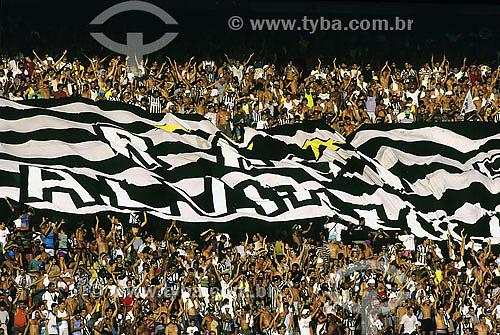 Torcida do Botafogo no Maracanã (Estádio Jornalista Mario Filho) - Rio de Janeiro - RJ - Brasil  - Rio de Janeiro - Rio de Janeiro - Brasil