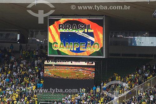 Torcida - Jogos Pan-americanos Rio 2007 - Final do torneio de futebol feminino, Brasil X Eua - Brasil medalha de ouro - Rio de Janeiro - RJ - Brasil - Julho de 2007  - Rio de Janeiro - Rio de Janeiro - Brasil