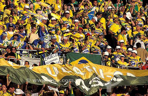 Torcida brasileira na Copa do Mundo de 1998 na França