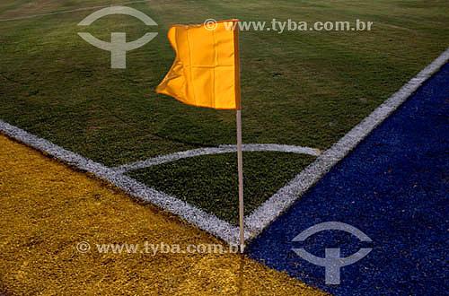 Campo de futebol - Bandeira do