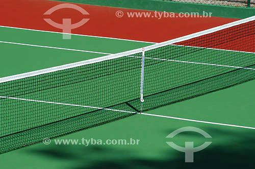 Esporte - quadra de tênis - rede