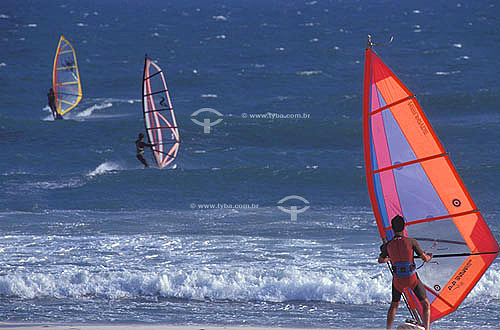 Windsurf na Barra da Tijuca - Rio de Janeiro - RJ - Brasil  - Rio de Janeiro - Rio de Janeiro - Brasil