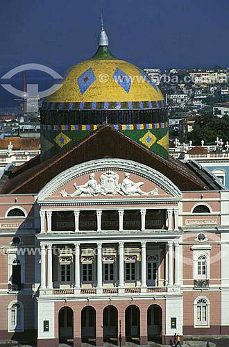 Teatro Amazonas - Manaus - AM - Brasil  O teatro é Patrimônio Histórico Nacional desde 20-12-1966, sendo o primeiro monumento, em Manaus, tombado pelo Patrimônio Histórico.  - Manaus - Amazonas - Brasil