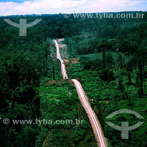 Vista aérea daTransamazônica - AM - Brasil  - Amazonas - Brasil