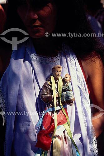 Imagem de São Fransisco de Assis - Festa de Santo Alberto de Carvoeiro - Barcelos - Rio Negro - AM - Brasil  - Barcelos - Amazonas - Brasil