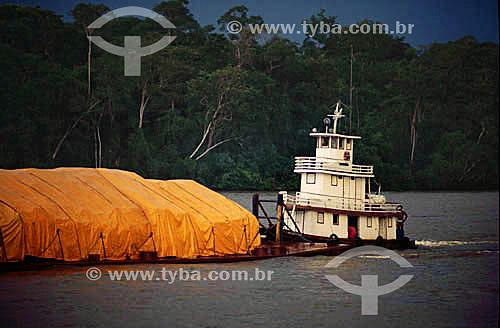 Transporte hidroviário de carga - Rio Branco - RO - Amazônia - Brasil  - Rio Branco - Rondônia - Brasil