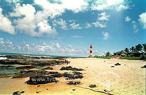 Farol da praia de Itapoa - Salvador - Bahia - Brasil  - Salvador - Bahia - Brasil