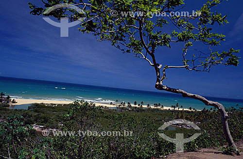 Praia em Trancoso - BA - Brasil  - Porto Seguro - Bahia - Brasil