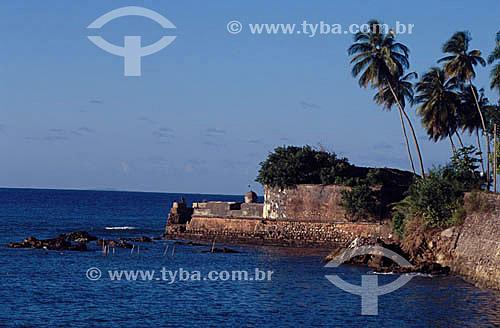 Ruínas do Forte - Morro de São Paulo - Costa do Dendê - litoral sul da Bahia  - Cairu - Bahia - Brasil