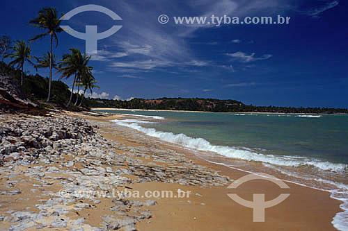 Praia em Caraíva - Porto Seguro  - litoral sul da Bahia - Brasil  A área denominada Costa do Descobrimento (Reserva da Mata Atlântica) é Patrimônio Mundial pela UNESCO desde 01-12-1999 e nela estão localizadas 23 áreas de proteção ambiental na Bahia (incluindo Porto Seguro).  - Porto Seguro - Bahia - Brasil
