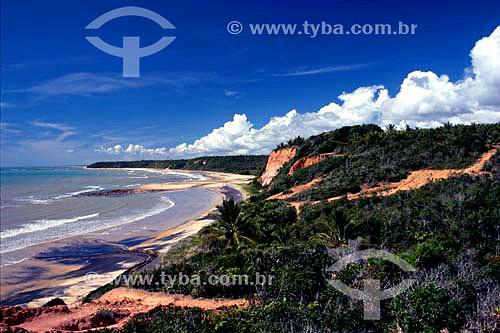 Praia no sul da Bahia - Caraíva - BA - Brasil  - Porto Seguro - Bahia - Brasil