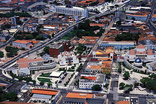 Vista aérea do Centro Cultural Dragão do Mar - Fortaleza - CE - Brasil - 03/2002.  - Fortaleza - Ceará - Brasil