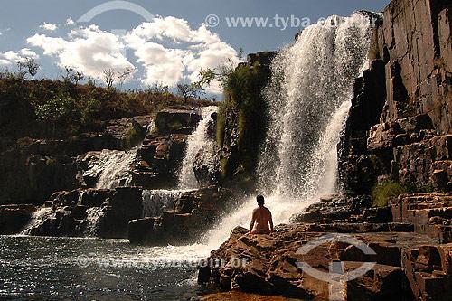 Cachoeira, Rio dos Couros - Chapada dos Veadeiros - Goiás - Brazil - 2007  - Goiás - Brasil
