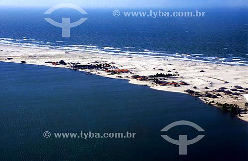 Vista aérea do Rio Preguiça - Lencois Maranhenses - Barreirinhas - Maranhao State - Brazil - August/2004.  - Barreirinha - Maranhão - Brasil