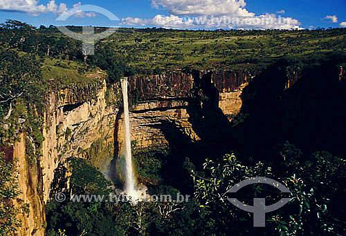 Cachoeira Véu de Noiva - Parque Nacional da Chapada dos Guimarães - MT - Brasil / Data: 2009
