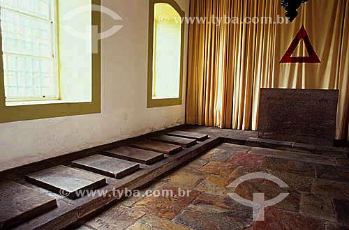 Jazigo dos Incofidentes no Museu da Incofidência - Ouro Preto - MG - Brasil A cidade de Ouro Preto é Patrimônio Mundial pela UNESCO desde 05-09-1980.  - Ouro Preto - Minas Gerais - Brasil