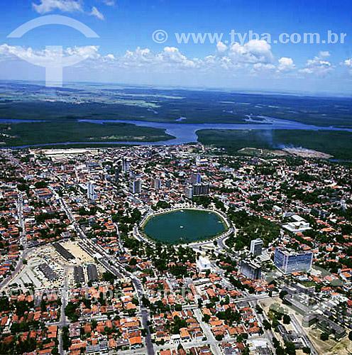 Vista aérea de João Pessoa em primeiro plano com rio ao fundo - Paraíba - Brasil  - João Pessoa - Paraíba - Brasil