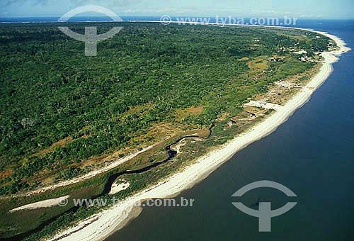 Vista aérea da Ilha de Superagüi - Paraná - Brazil  - Guaraqueçaba - Paraná - Brasil